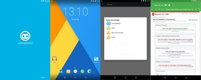 CyanogenMod 12.0 basiert auf Android 5.0.2 (Screenshot: ZDNet.de)
