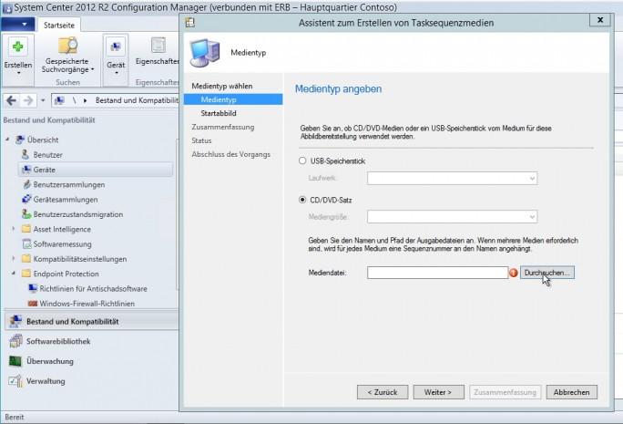 Bereitstellungen über MDT/ADK lassen sich auch zusammen mit System Center Configuration Manager (SCCM) durchführen (Screenshot: Thomas Joos).