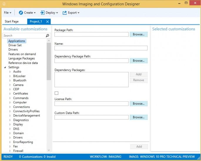 Mit dem neuen Windows Imaging and Configuration Designer können Administratoren Windows-Images optimal konfigurieren (Screenshot: Thomas Joos).