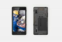 Vorder- und Rückseite von Fairphone 2 (Bild: Fairphone)