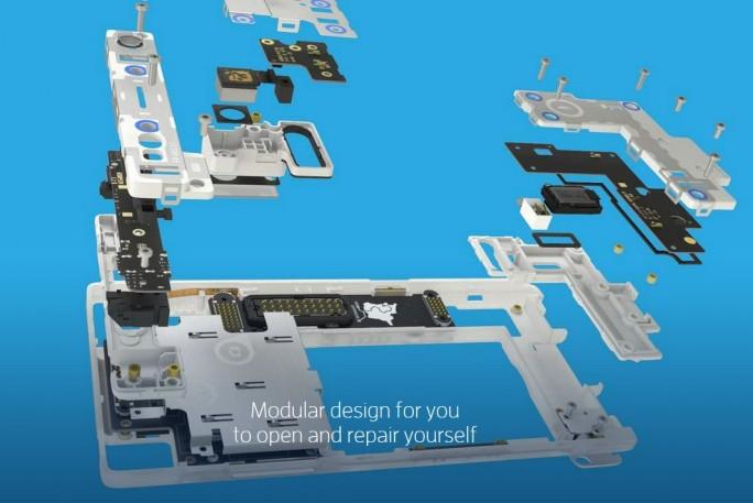 Das Fairphone 2 wird modular aufgebaut und mit einem Standard-Schraubendreher zu öffnen sein (Bild: Fairphone).