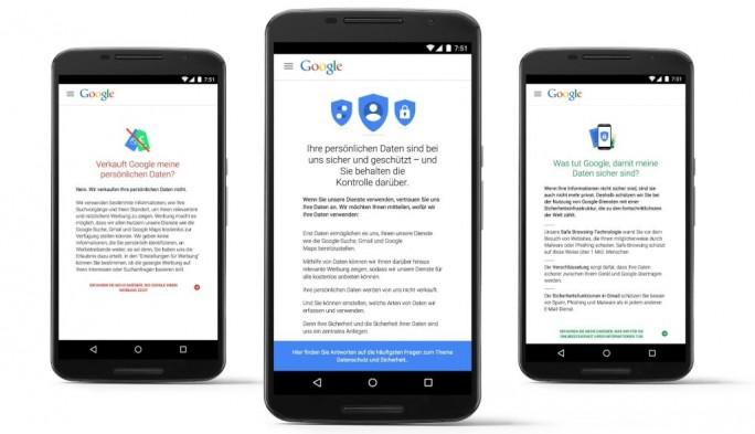 Unter privacy.google.com finden sich Antworten auf häufige Nutzerfragen rund um Datenschutz und Sicherheit (Bild: Google).