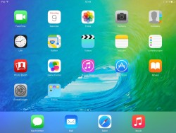 iOS 9: iPad-Startscreen (Screenshot: ZDNet.de)