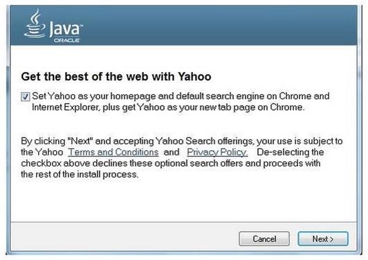 Java-Update mit Yahoo-Empfehlung (Bild: Oracle)