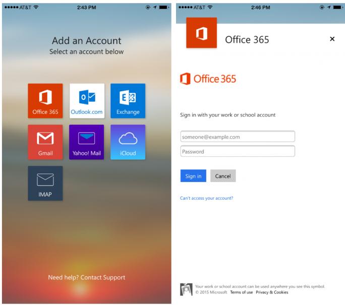 Die neue ADAL-Anmeldeseite für Office-365-Konten (Bild: Microsoft)