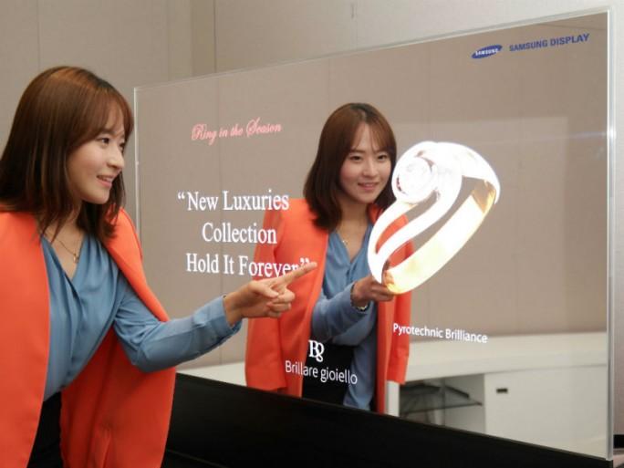"""Der """"Magic Mirror"""" von Samsung könnte beispielsweise in Juweliergeschäften zum Einsatz kommen (Bild: Samsung)."""