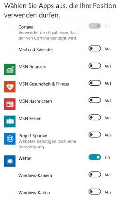 Die Berechtigungen für Apps lassen sich in den PC-Einstellungen anpassen (Screenshot: Thomas Joos).