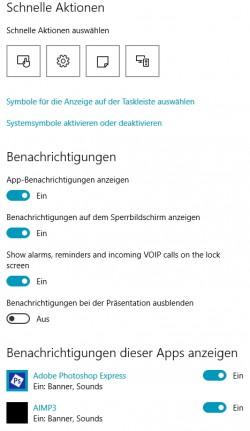 Die App-Benachrichtigungen sollten für einen optimalen Datenschutz angepasst und optimiert werden (Screenshot: Thomas Joos).
