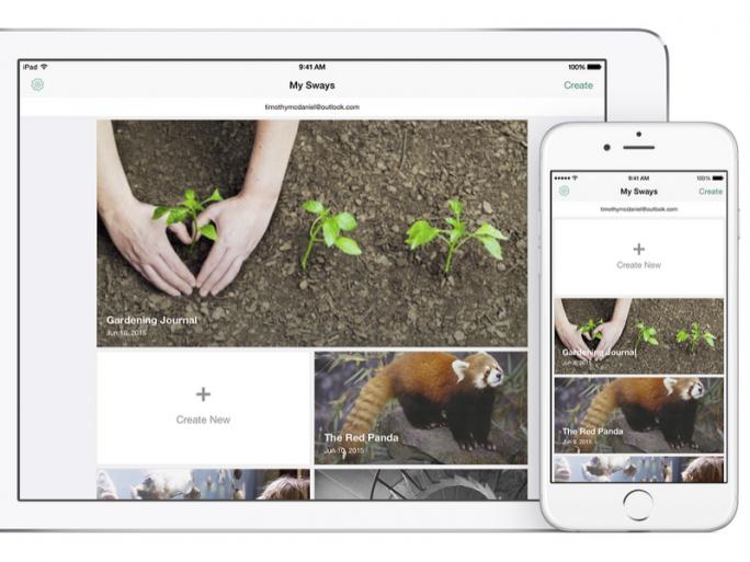 Sway für iPad und iPhone (Bild: Microsoft)