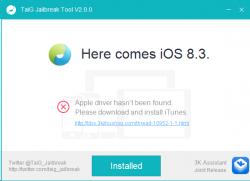 TaiG 2.0 führt einen Untethered Jailbreak bei Geräten mit iOS 8.1 bis 8.3 durch (Screenshot: ZDNet.de).