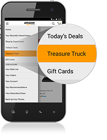 Treasure Truck in der Mobilapp (Bild: Amazon)