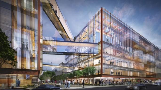 Geplante Uber-Firmenzentrale (Bild:  SHoP Architects)