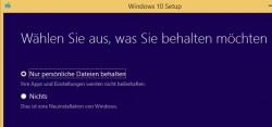 Auswählen der Dateien die bei der Aktualisierung erhalten bleiben sollen (Screenshot: Thomas Joos)
