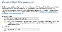 Das Erstellen einer Systemabbildsicherung in Windows 7/8.1 sollte vor der Aktualisierung zu Windows durchgeführt werden (Screenshot:Thomas Joos).