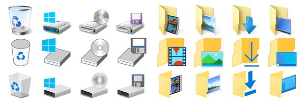 Microsoft hat die Icons in Windows 10 schon mehrfach überarbeitet (Bild: Microsoft).