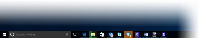Taskbar von Windows 10 (Bild: Microsoft)