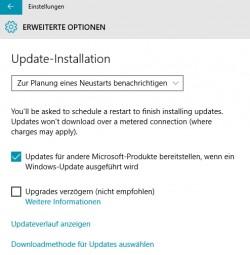 Windows Update kann auch in Windows 10 noch Dritt-Produkte aktualisieren, zum Beispiel Office 2013/2016 (Screenshot: Thomas Joos).