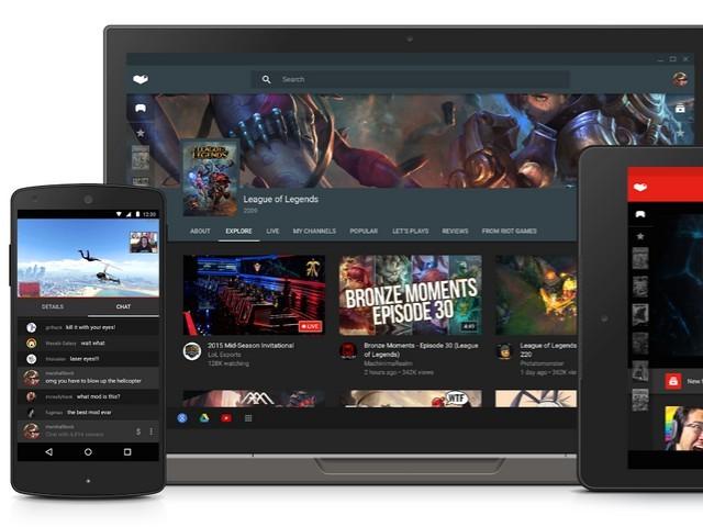 Youtube Gaming kommt als App und eigene Website (Bild: Google).