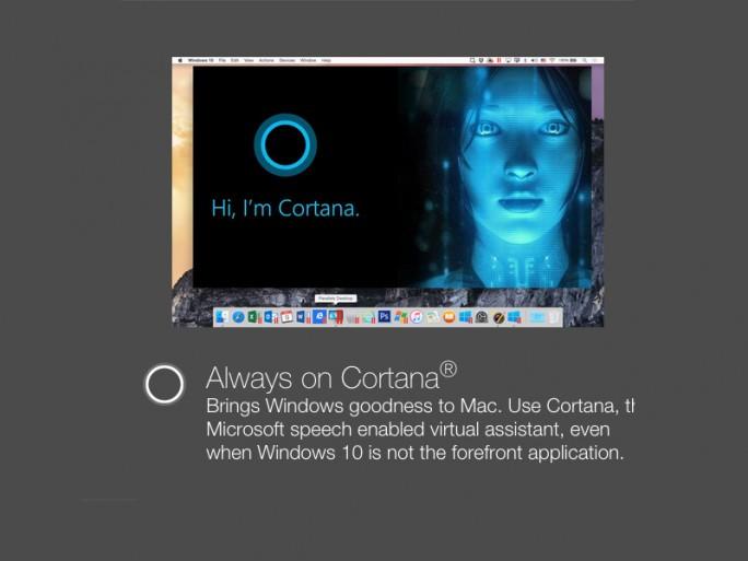 Parallels 11: Cortana unter OSX