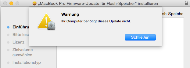 MacBook-Pro-Firmware für Flash-Controller (Screenshot: ZDNet.de)