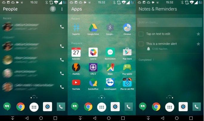 Microsoft: Android-Launcher Arrow (Screenshot: ZDNet.de)