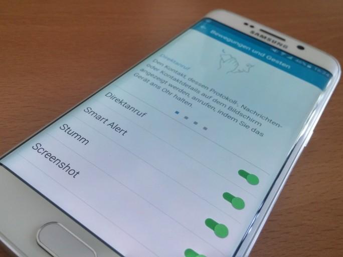 Samsung Galaxy S6: Gesten für produktives Arbeiten (Bild: ZDNet.de)