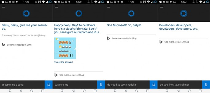 Cortana für Android (Screenshot: ZDNet.de)