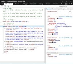 Mit den Entwicklungstools in Microsoft Edge lässt sich der Datenverkehr des Browsers genau nachverfolgen (Screenshot: Thomas Joos).