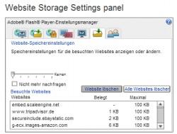 Flash-Cookies müssen Anwender außerhalb des Browsers, auch außerhalb von Microsoft Edge löschen (Screenshot: Thomas Joos).