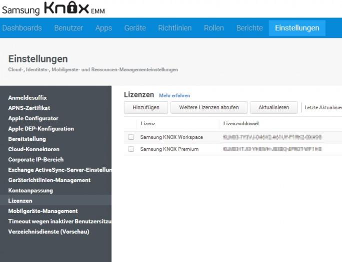 Vor der Anbindung von Active Directory müssen die Lizenzen überprüft werden (Screenshot: Thomas Joos).