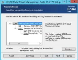 Die Samsung Knox Cloud Management Suite wird im Netzwerk installiert (Screenshot: Thomas Joos).