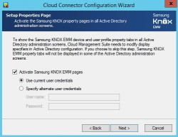 Die Samsung Knox Cloud Management Suite muss Active Directory für die Anbindung an Samsung Knox vorbereiten (Screenshot: Thomas Joos).