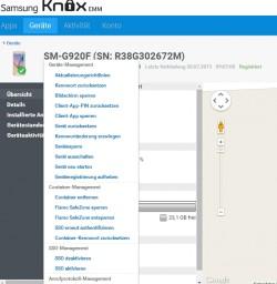 Im Knox EMM-Benutzerportal sind die registrierten Endgeräte der Anwender zu finden. Hier lassen sich auch zahlreiche Befehle remote ausführen (Screenshot: Thomas Joos).