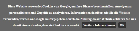 Cookie-Information auf Blogspot (Screenshot: ZDNet)