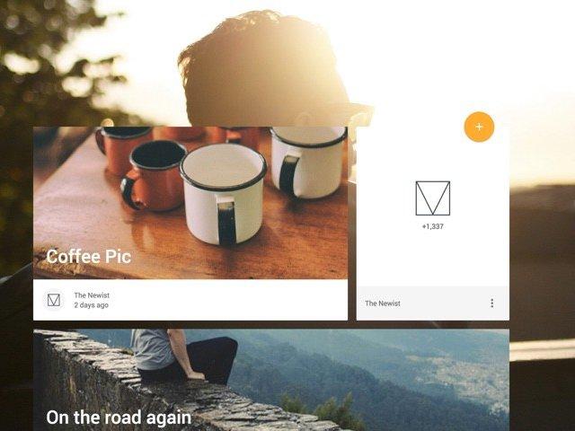 Mit Material Design Lite gestalteter Blog (Bild: Google)
