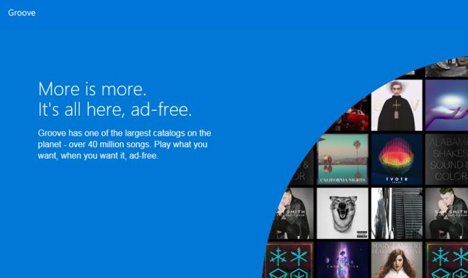 Microsoft nennt seinen Musikdienst Xbox Music künftig Groove (Screenshot: ZDNet.de).