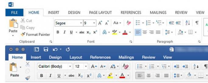 Microsoft hat die Oberfläche von Office 2016 für Mac an das Design der Windows-Variante angepasst (Screenshot: Ed Bott/ZDNet.com).