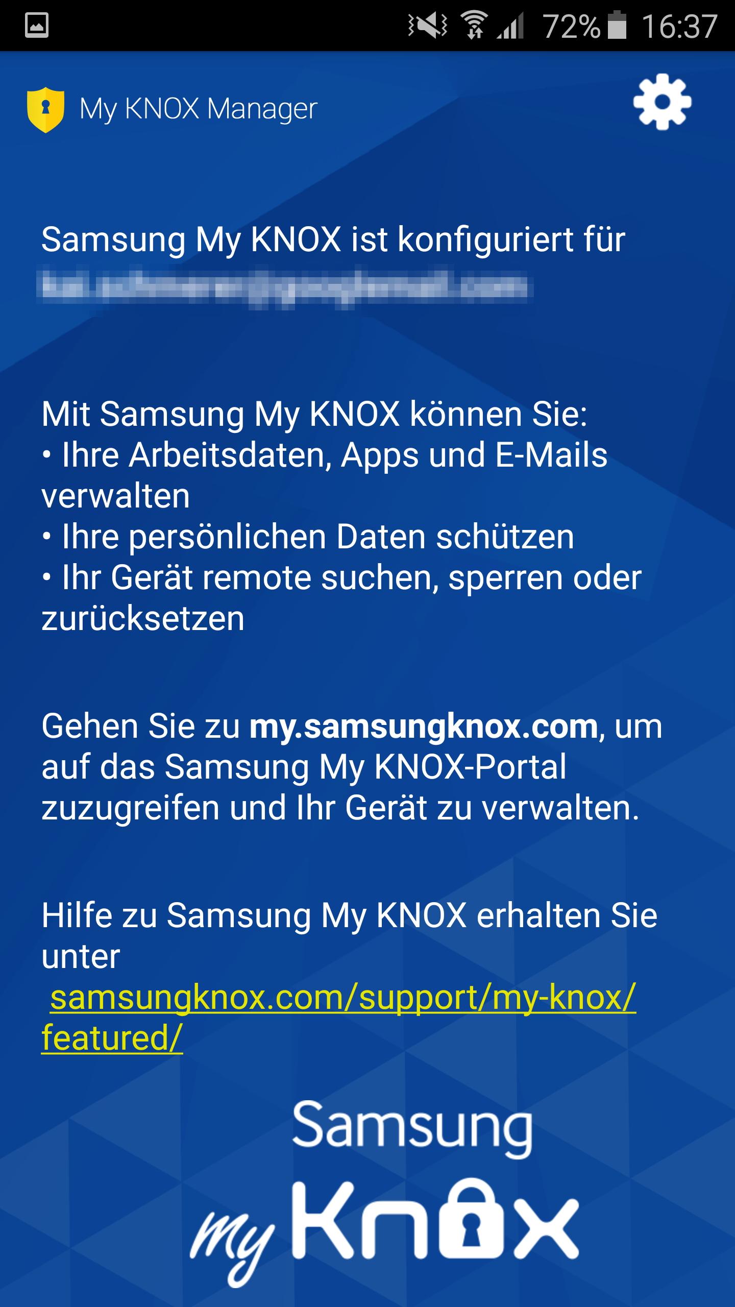 how to delete knox app s6