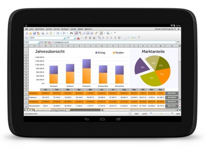 PlanMaker HD bietet mehr als 350 Rechenfunktionen (Bild: SoftMaker).