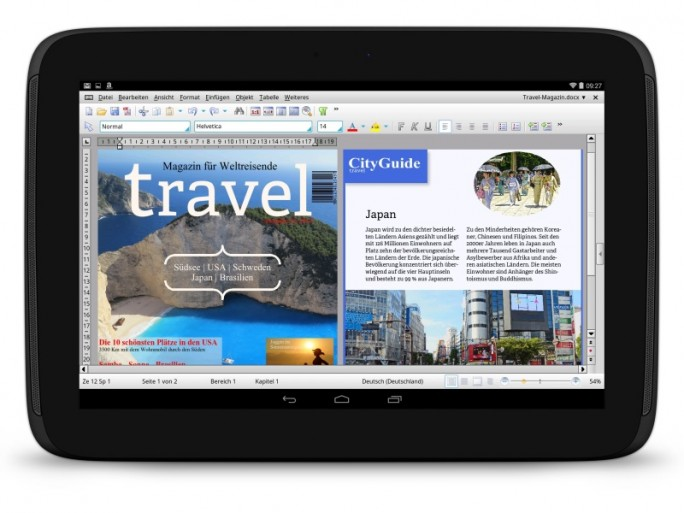 TextMaker HD führt das neue Dokumentenformat TextMaker 2016 ein (Bild: SoftMaker).