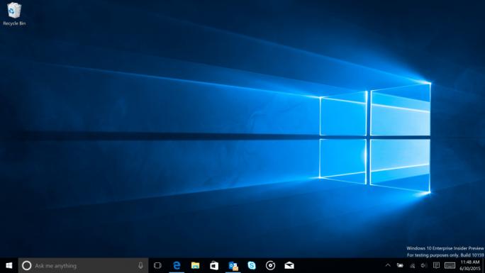Build 10159 enthält das neue offizielle Windows-10-Wallpaper (Bild: Microsoft).