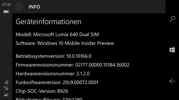 Windows 10 Mobile Build 10166