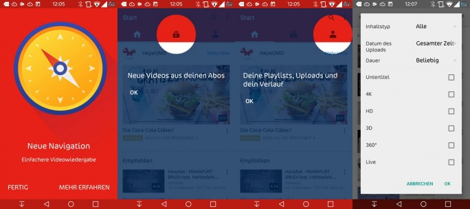 Youtube aktualisiert Plattform und mobile Apps (Screenshot: ZDNet.de)