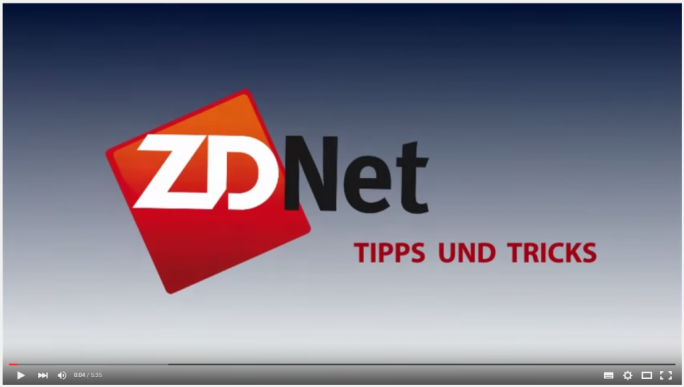 Youtube Player (Screenshot: ZDNet.de)