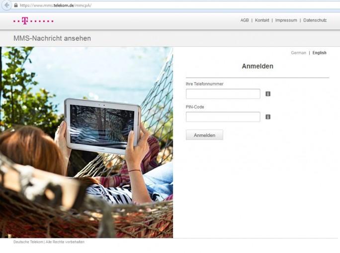 Wer MMS empfangen will, muss sie sich aufgrund der Maßnahmen gegen die Sicherheitslücke Stagefright bei der Deutschen Telekom jetzt manuell abholen (Screenshot: ZDNet).