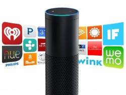 Die bislang im Netzwerklautsprecher Amazon Echo eingesetzten Fähigkeiten des Amazon-Sprachassistenten Alexa können künftig auch Entwickler für ihre Produkte nutzen (Bild: Amazon).