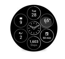 Oberfläche Bits für Android Wear (Bild: Google)