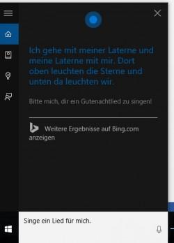 Cortana erlaubt die Sprachsteuerung von Windows 10 auf dem Desktop (Screenshot: Thomas Joos).