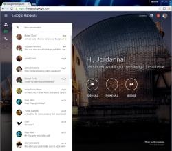 Webclient für Hangouts (Screenshot: Google)