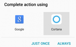 Cortana als Standard-Assistent in Android Screenshot: ZDNet.com)